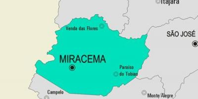 Map of Miracema municipality