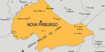 Map of Nova Friburgo municipality