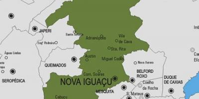 Map of Nova Iguaçu municipality