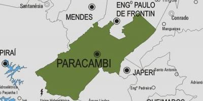 Map of Paracambi municipality