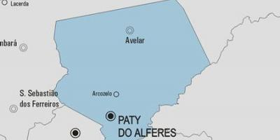 Map of Paty do Alferes municipality