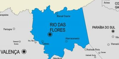 Map of Rio das Ostras municipality