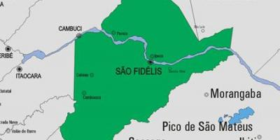Map of São Francisco de Itabapoana municipality