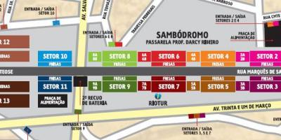 Map of Sambódromo