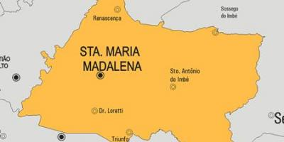 Map of Santa Maria Madalena municipality