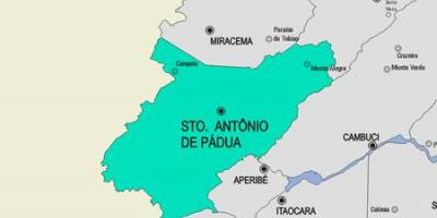 Map of Santo Antônio de Pádua municipality