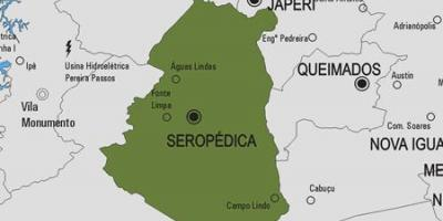 Map of Seropédica municipality