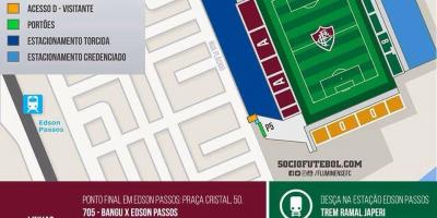 Map of stadium Giulite Coutinho