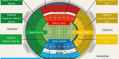 Map of stadium Maracanã secteurs