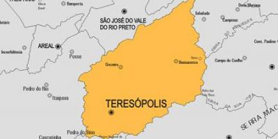 Map of Teresópolis municipality